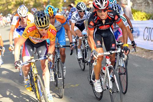 Cadel Evans and Alejandro Valverde, Vuelta a Espana 2009, stage nine