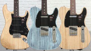 Fender Sandblasted Strat and Tele