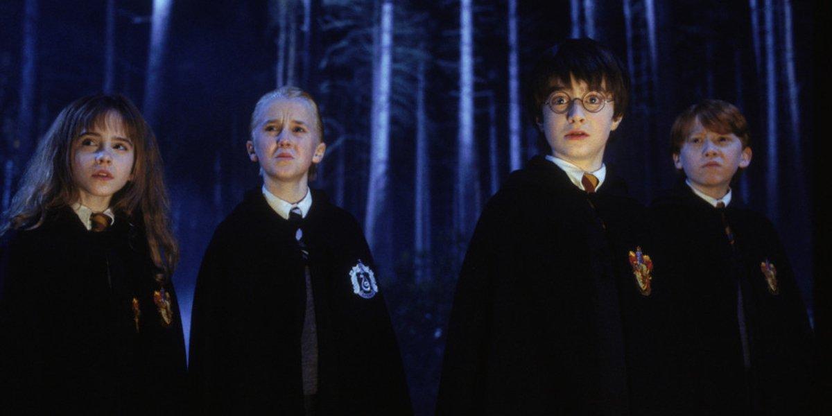 Harry Potter forbidden forest cast photo