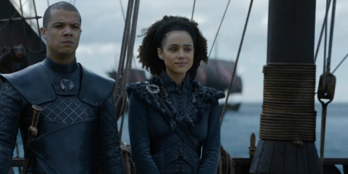 Game of Thrones Jacob Anderson Grey Worm Missandei Nathalie Emmanuel HBO