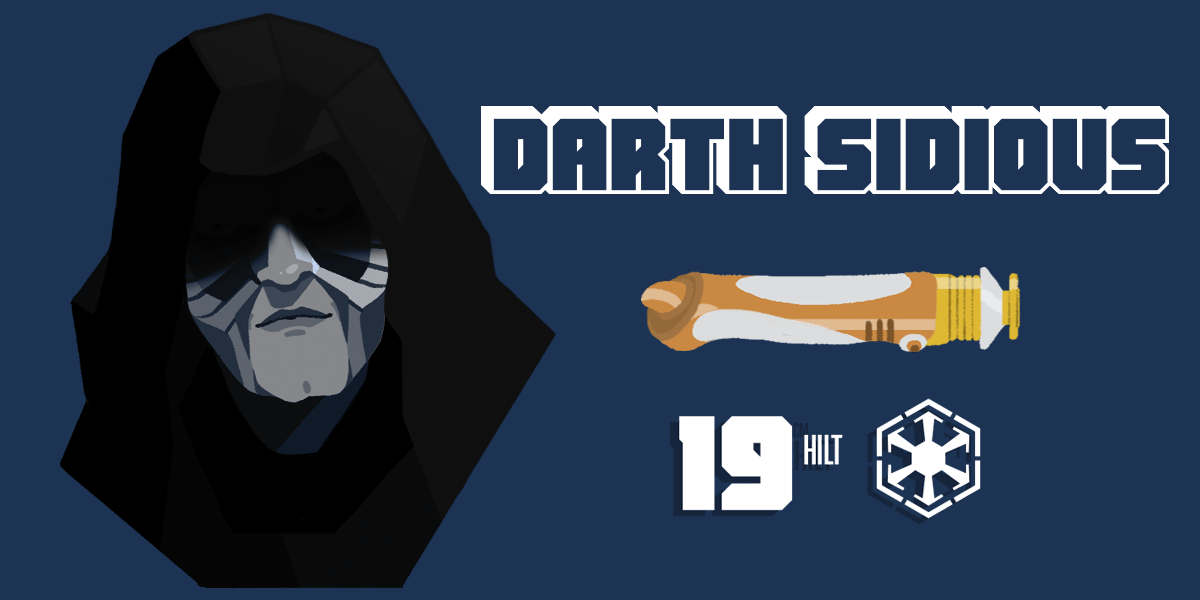 Darth Sidious and his lightsaber statistics