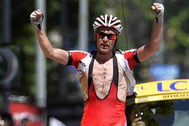 Yuri Trofimov wins on stage four of the 2014 Criterium du Dauphine