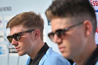 Remco Evenepoel and Wout Van Aert speak about the time trial at the Road World Championships