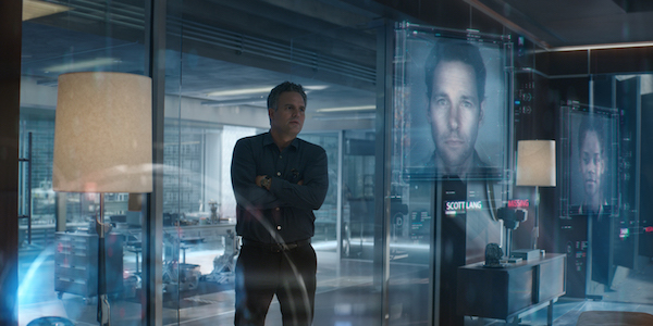 Bruce Banner looking at pictures of the dusted in Avengers: Endgame