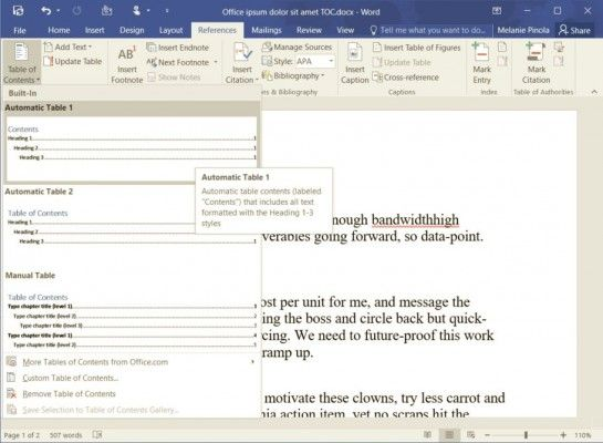 How To Add A Table Of Contents In Word 2016 Laptop Mag