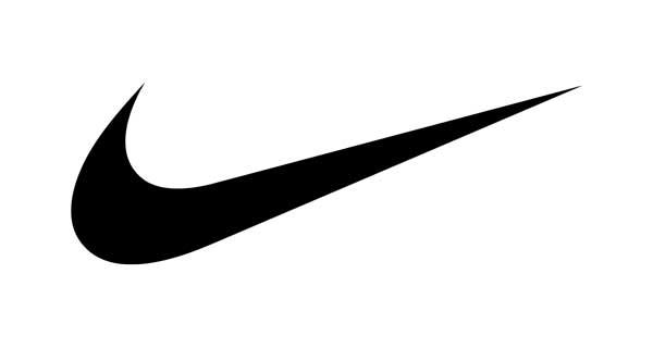 The Nike tick logo in black