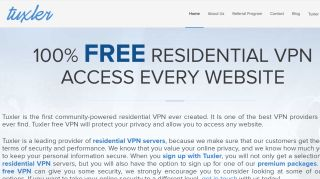 Tuxler is a free VPN that doesn't even try to hide the fact that it shares user data with advertisers (Image Credit: Tuxler)