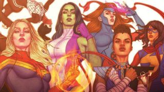 preliminary cover of Super Visible: The History of the Women of Marvel Comics