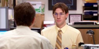 Jim Halpert impersonating Dwight in _The Office._