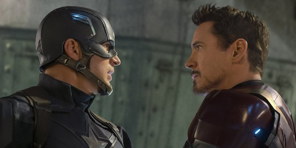 Captain America Iron Man square off