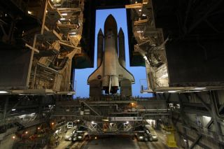 Space shuttle Discovery's final rollout to the launch pad ahead of a November 1, 2010 launch.