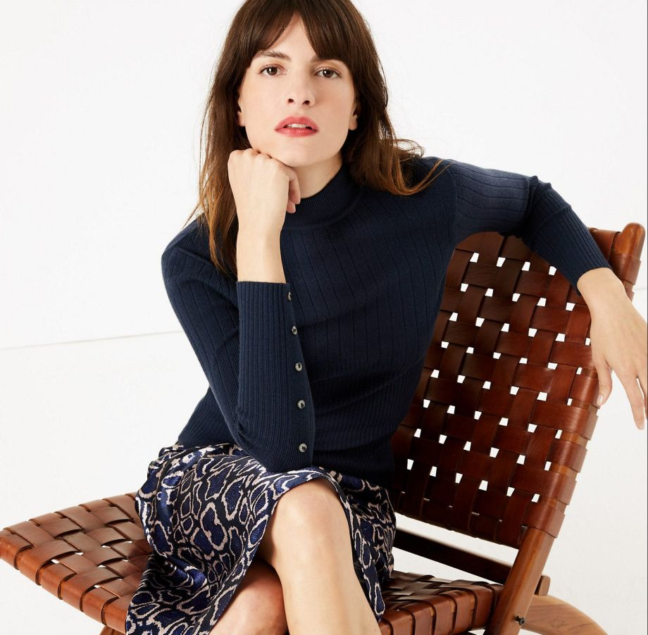 model wearing M&S autumn collection