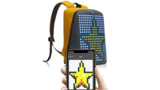Wear your favorite 8-bit characters like Mario with this programmable LED backpack