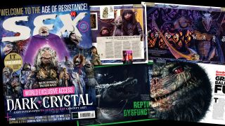 The cover and some of the contents of SFX issue 317.
