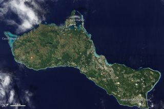 Guam, as seen by NASA's Earth Observing-1 (EO-1) satellite