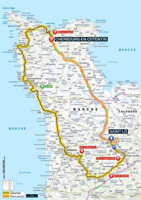 Tour De France 2016 Stage 2 Map