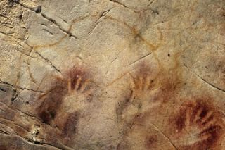 hand prints from El Castillo cave paintings