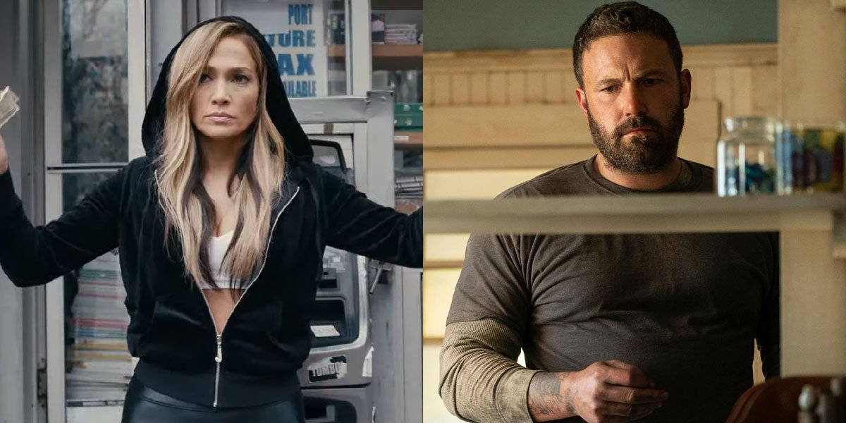Ben Affleck and Jennifer Lopez in hustlers and the way way back