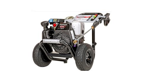 Simpson MegaShot MSH3125 pressure washer review: Image shows the pressure washer against a white background.