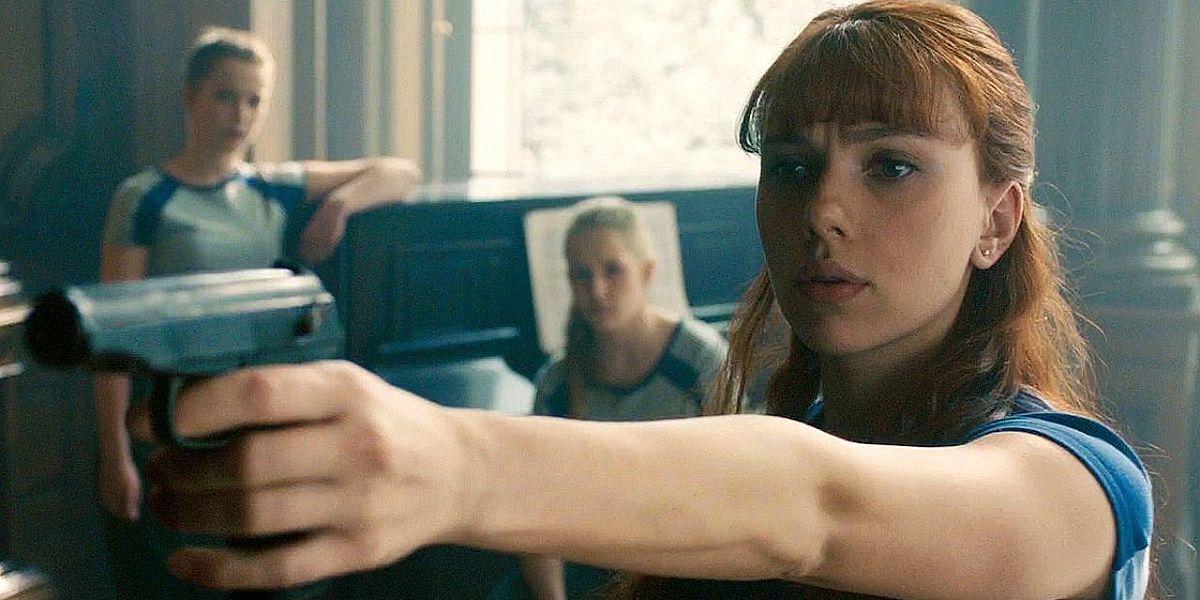 Scarlett Johansson in Avengers Age of Ultron flashback