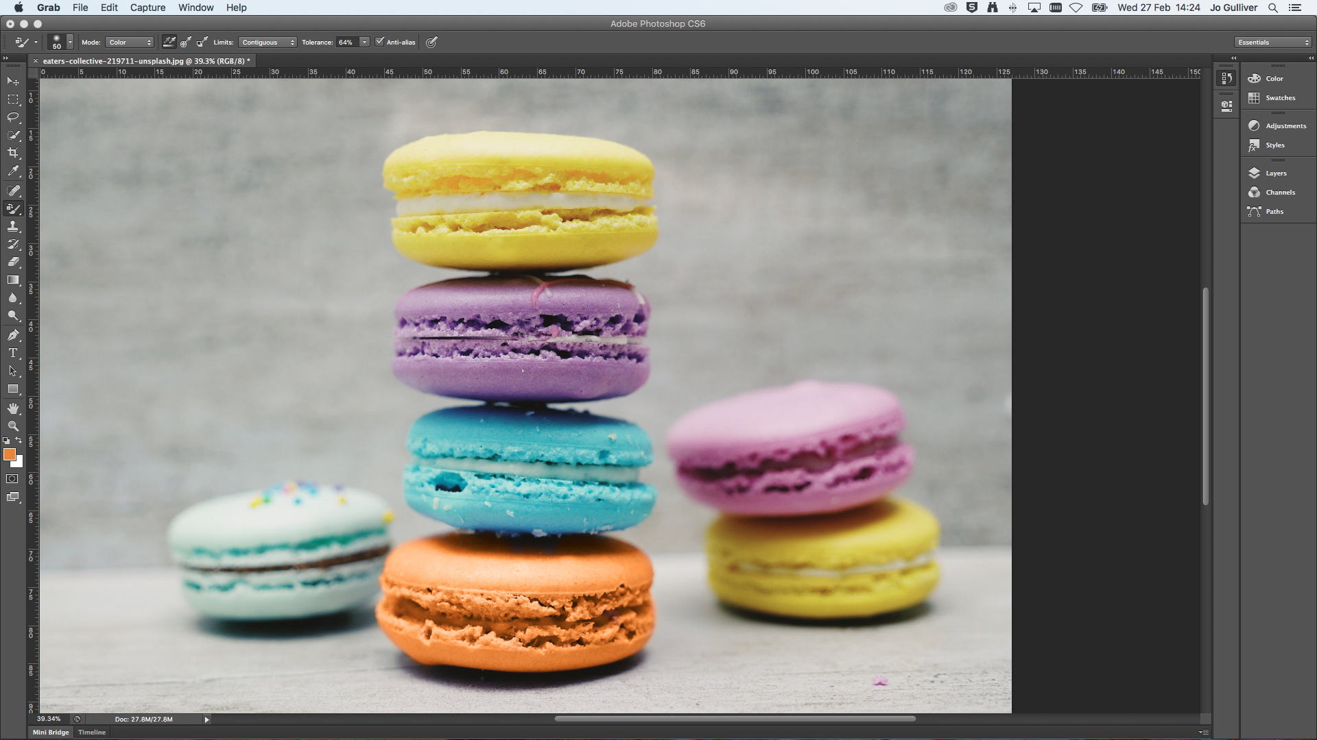 A stack of macaroons in a new colour