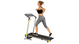 Get $135 off a popular Sunny Health and Fitness folding treadmill - today only!
