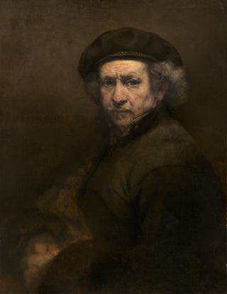 An oil on canvas self-portrait that Rembrandt painted in 1659 following financial failure.
