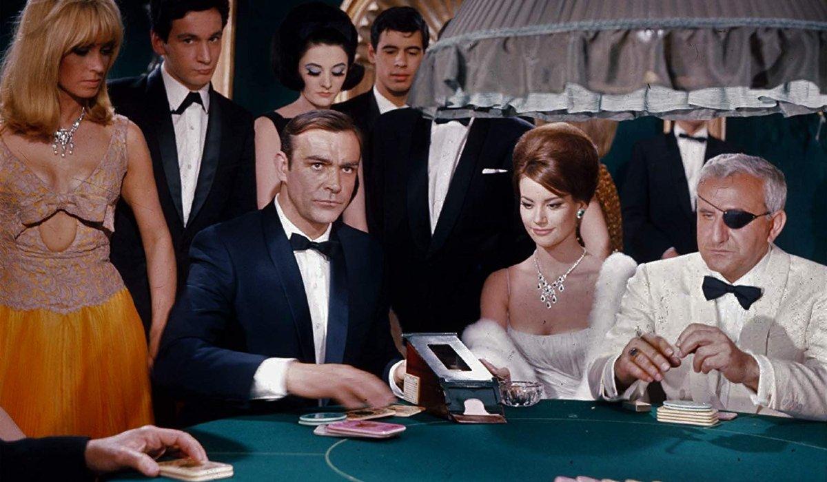 Thunderball Bond plays cards with Largo