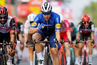 Fabio Jakobsen (Deceuninck-Quickstep) takes his first win since his Tour de Pologne crash in the Tour de Wallonie on stage 2