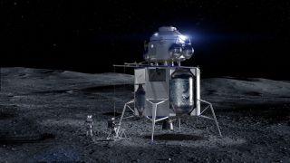 Blue Origin Unveils 'Blue Moon,' Its Big Lunar Lander