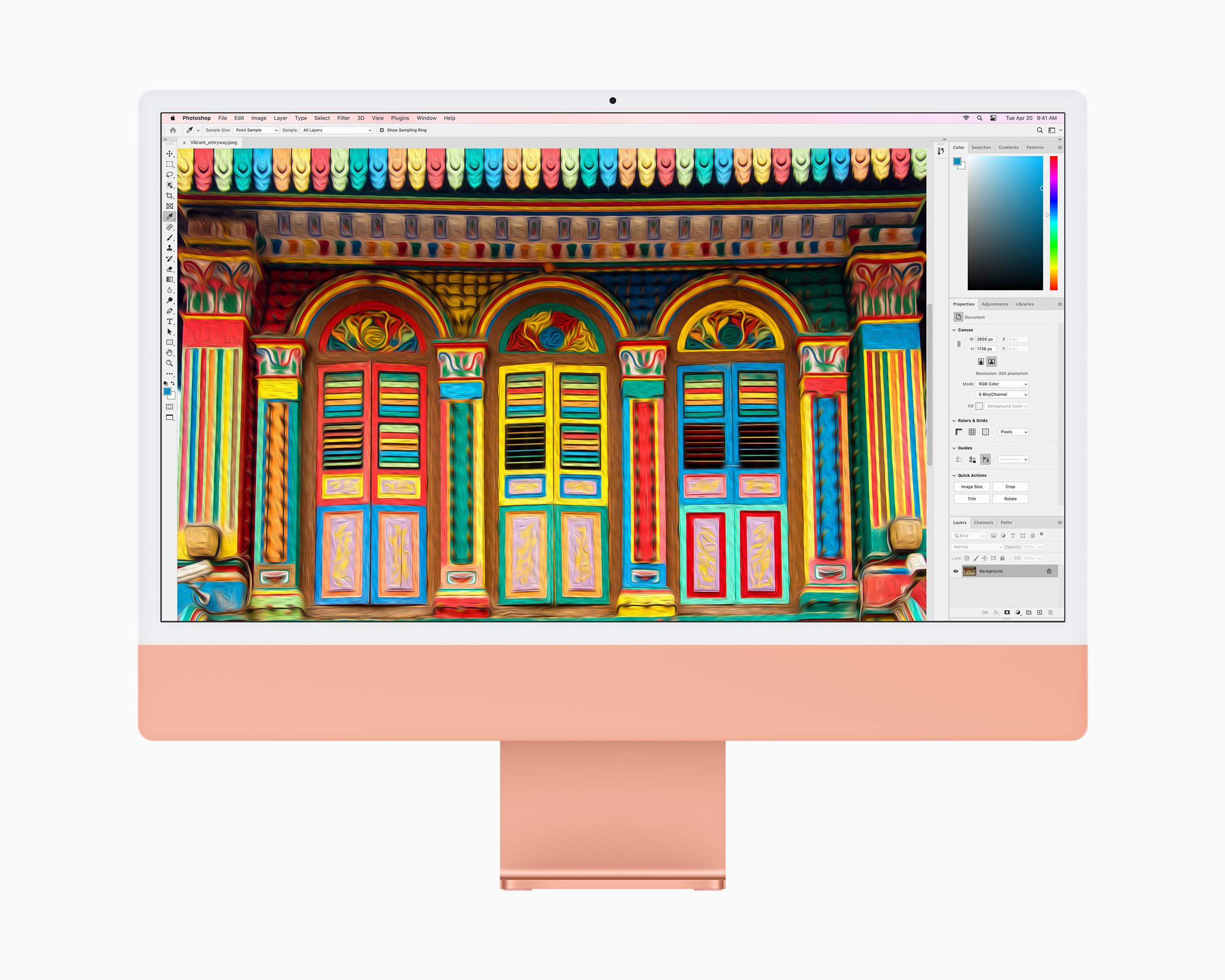 iMac 2021 in orange