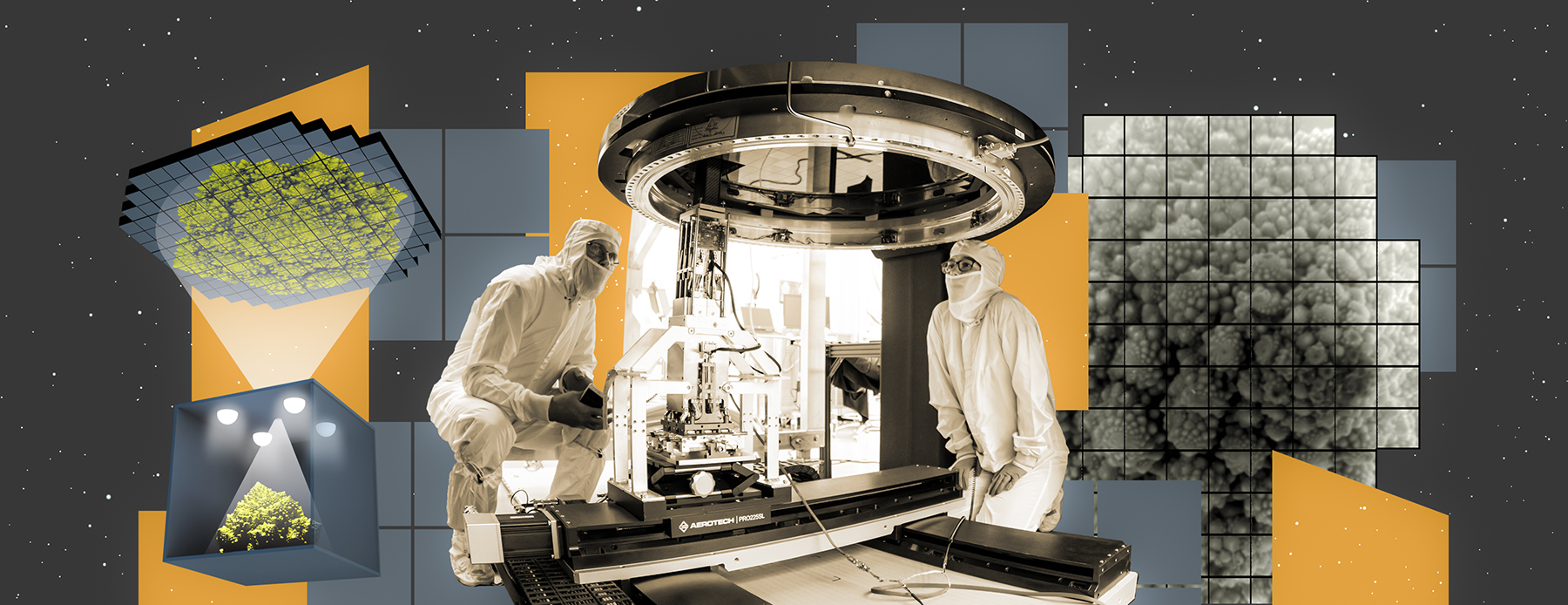 """Crews at the SLAC National Accelerator Laboratory have taken the first 3,200-megapixel images with the complete focal plane of the LSST Camera, the future """"eye"""" ofthe VeraC.RubinObservatory. They are the largest digital images ever taken in a single shot. One of the first objects photographed was a Romanesco broccoli, chosen for its very detailed texture."""