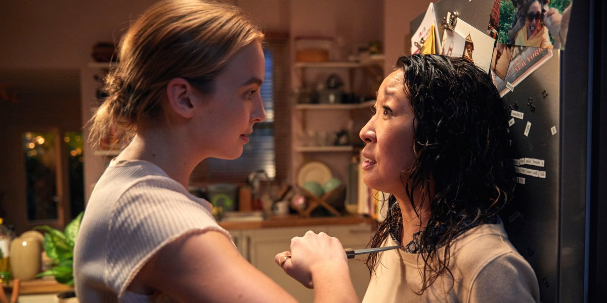 Jodie Comer and Sandra Oh in