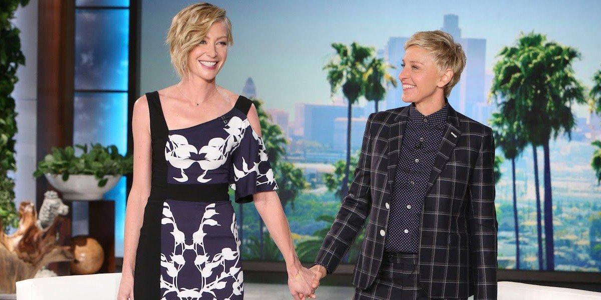 Portia de Rossi and Ellen DeGeneres on The Ellen DeGeneres Show (2014)