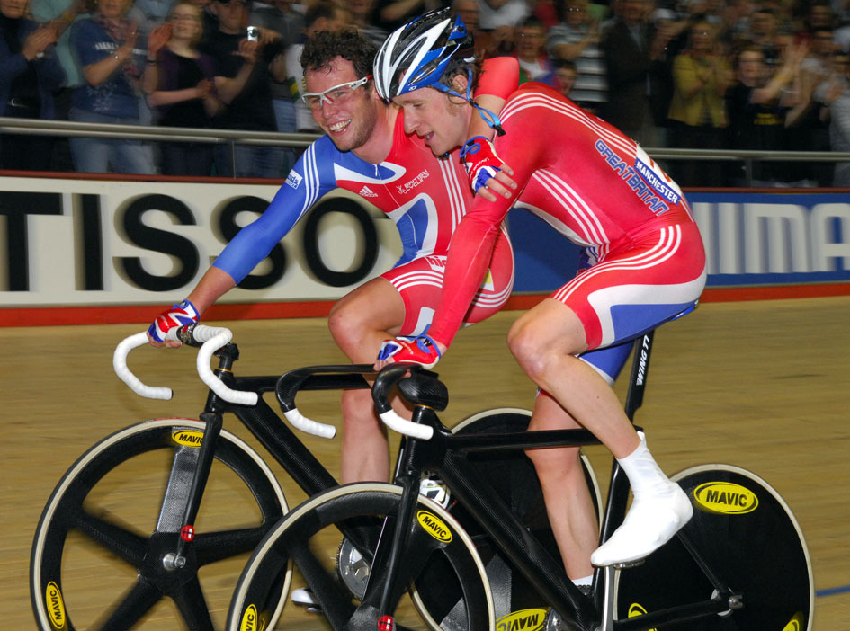 Mark Cavendish Bradley Wiggins Madison world champions