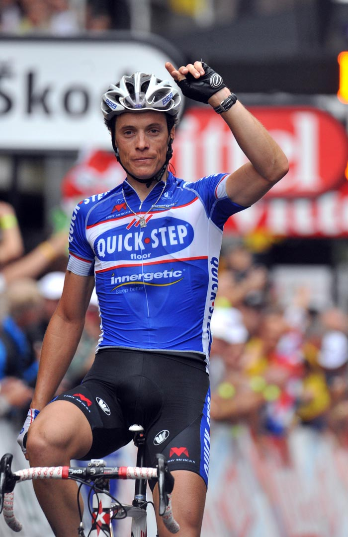 Sylvain Chavanel wins, Tour de France 2010 stage 2