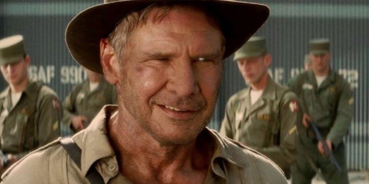 Harrison Ford as Indiana Jones in. Kingdom of the Crystall Skull