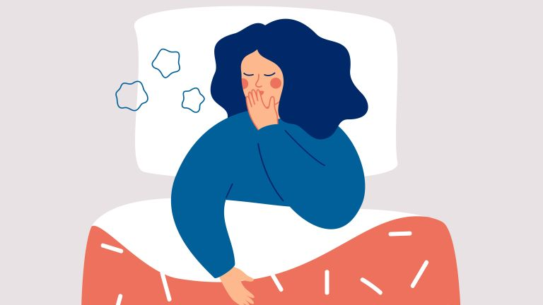 illustration of women with insomnia