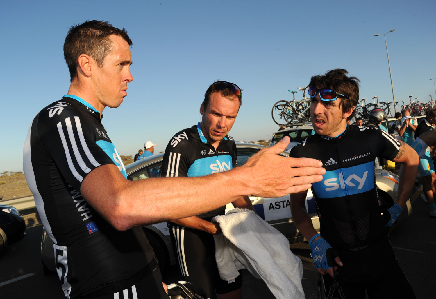 Mat Hayman, Russell Downing and Jeremy Hunt, Tour of Oman 2011, stage one