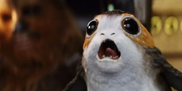 Star Wars: The Last Jedi screaming Porg