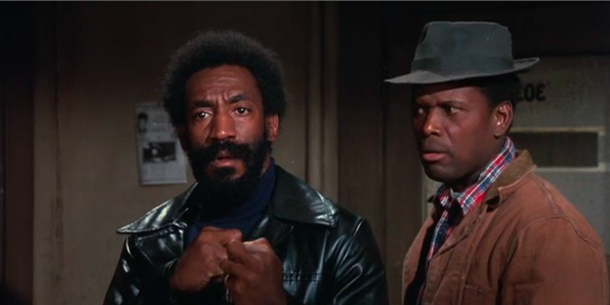 From left to right: Bill Cosby and Sidney Poitier