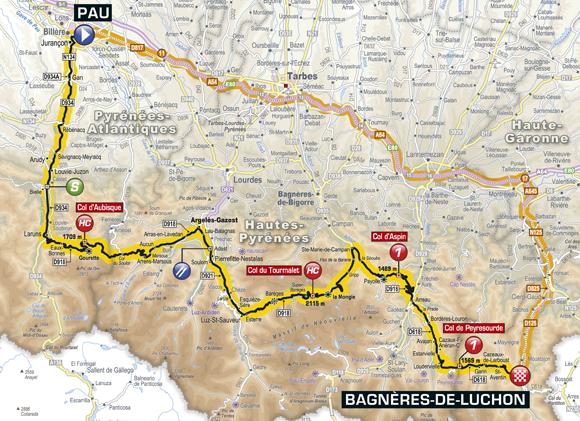 Stage 16: Pau-Bagnères de Luchon