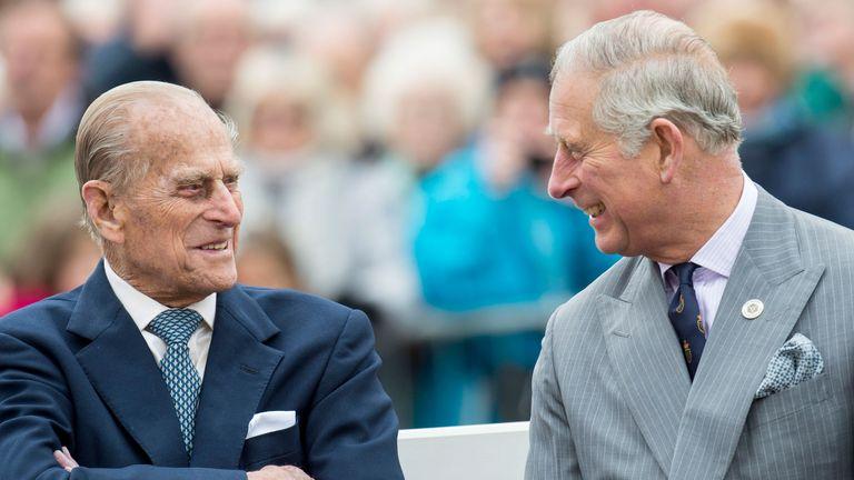 Prince Charles and Prince Philip