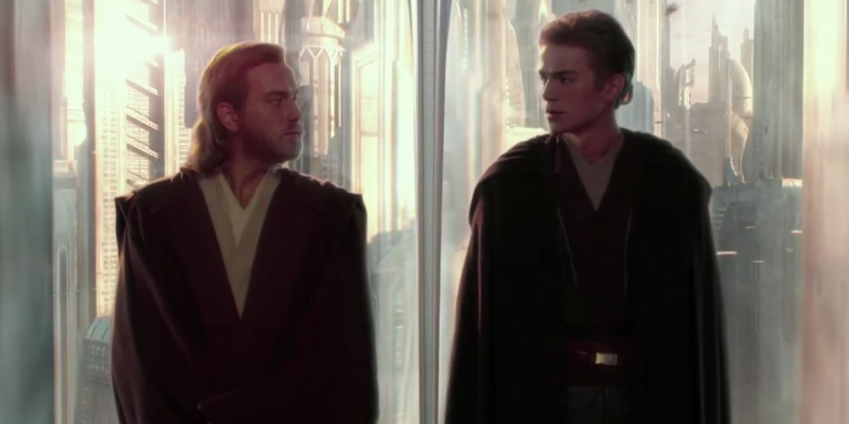Ewan McGregor and Hayden Christiansen in Star Wars: Attack of the Clones