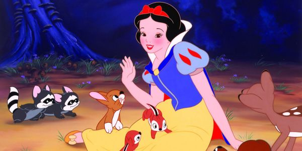 Snow White with her animal friends in Snow White and the Seven Dwarfs