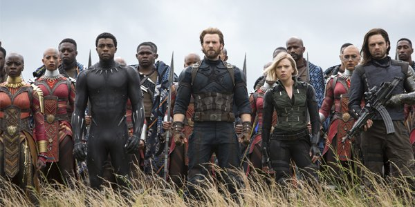 Avengers Infinity War Black Panther Captain America Black Widow White Wolf