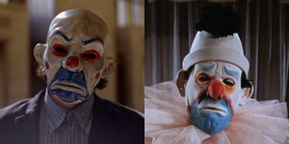 Heath Ledger's Joker's Mask in The Dark Knight and Cesar Romero's Joker's Mask on Batman
