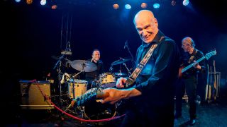 A shot of Wilko Johnson on stage