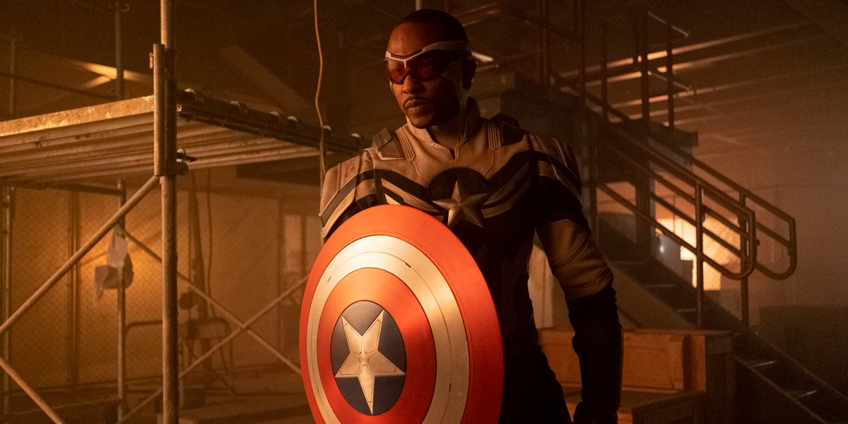 Anthony Mackie as Captain America in The Falcon And The Winter Soldier