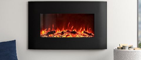 Orren Ellis Razo Curved Wall Mounted Electric Fireplace Review